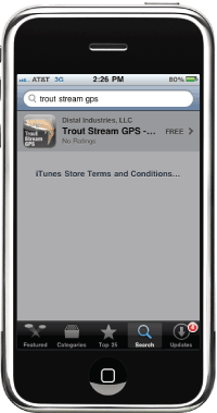 Trout stream gps iphone app fly fishing maps for america for Best fishing apps for iphone